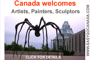 Canada welcomes artists and fine art professionals