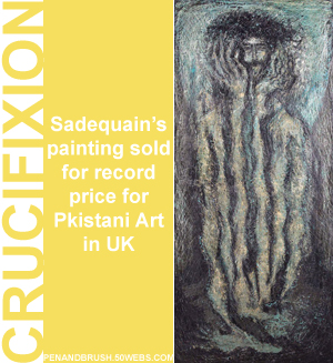Sadequain painting Crucifixion sold for 16M Pak Rupees